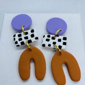 Dotty Shape Earring Lavender - DOT302 1 500x500