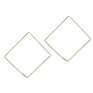 Big Gold Plated Square Hoop