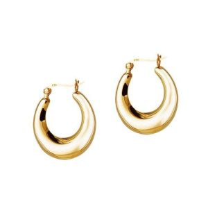 Big Gold Plated Silver Indian Hoop