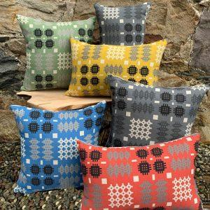 Welsh Tapestry Print Cushion - Rectangle - MC cwshins 1 500x500