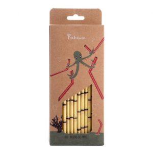Kraft Paper Straw-Bamboo style- Pack 100