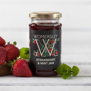 Strawberry & Mint Jam, Case of 6 x 250g - Strawberry Mint Jam Lifestyle Square 800x 500x500