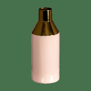 Gold Stem Pink Vase - VASE GOLD PINK 1 500x500