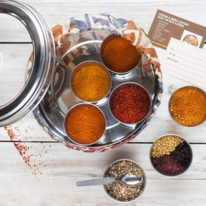 AFRICAN & MIDDLE EASTERN SPICE TIN WITH 9 SPICES - african cover 1 500x500