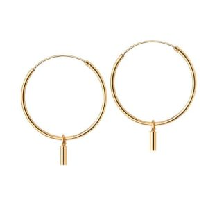 Gold Plated Hoop with Rod 22 MM