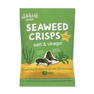12 x Bags Seaweed Crisps, Salt & Vinegar