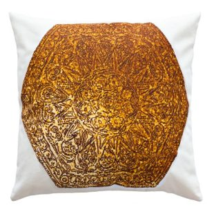 Copper Gold Cushion Cover, Hexagon