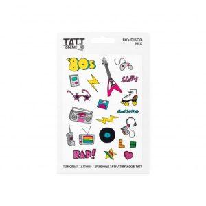 TATTon.me 80s Disco Mix - cool temporary tattoos - 80 s Disco 500x500