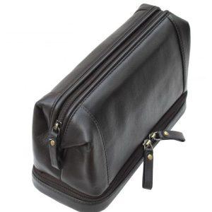 Zipped Bottom Toiletry Bag Black – 920