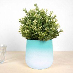 FlowerTop – Medium Green - C07 2 FRONT Green Medium Pivot Flowertop 2018 studio lorier flowerpot gradient vase gradient flowerpot color vase pivoting flowerpots 500x500