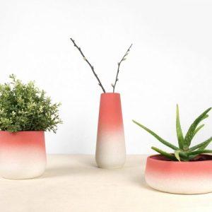 FlowerTop Pink Set 9 Items - C07 Set Flowertop 2018 studio lorier flowerpot gradient vase gradient flowerpot color vase pivoting flowerpots 500x500