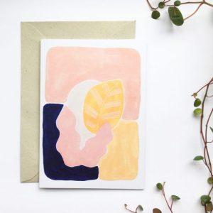 'abstract botanics' – greeting card design no.4
