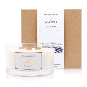 The Norfolk – Lavender Fields 3 Wick Soy Candle