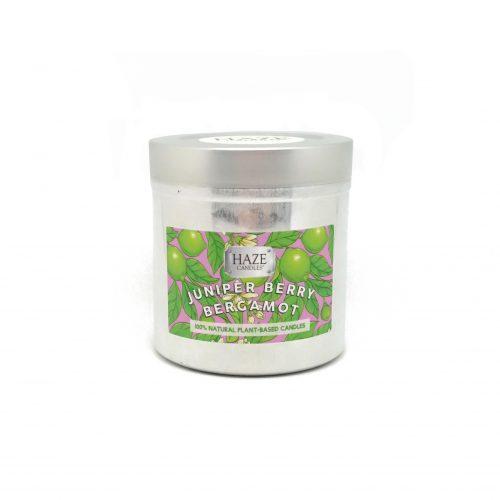 bergamot juniper berry scented candle