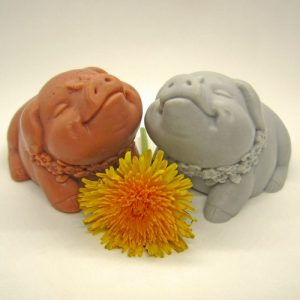 Pair of Little Pig Soaps (Pink & Grey) - Pair of Little Pig Soaps Pink   Grey1 500x500