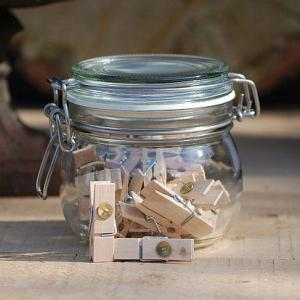 Pot of Wooden Pegs with Pushpin – 25pcs