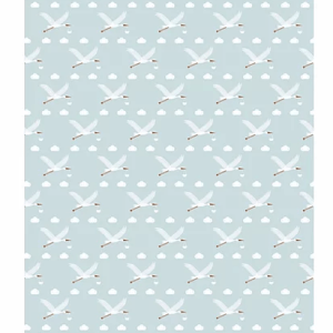 New Baby Blue Stork Wrapping Paper