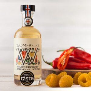 Golden Raspberry & Apache Chilli Vinegar, Case of 6 - WomersleyNov15 5 500x500