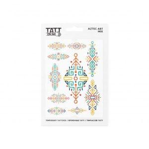 TATTon.me Aztec Art Mix - cool temporary tattoos - aztec art 500x500