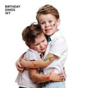 TATTon.me Birthday Dinos set - cool temporary tattoos - b dinos1 500x500
