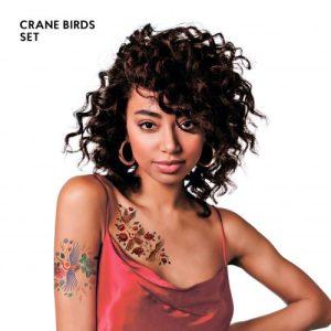 TATTon.me Crane Birds Set - cool temporary tattoos - crane birds1 500x500