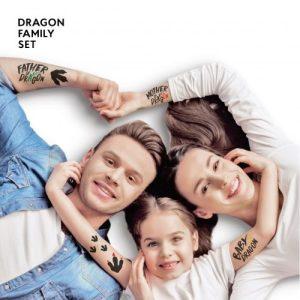 TATTon.me Dragon Family Set - cool temporary tattoos - d family 1 500x500