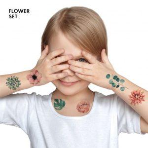 TATTon.me Flower Set - cool temporary tattoos - flowers 500x500