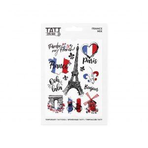 TATTon.me France Mix - cool temporary tattoos - france 500x500