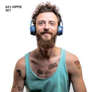 TATTon.me 60s Hippie Set - cool temporary tattoos - hippie1 500x500