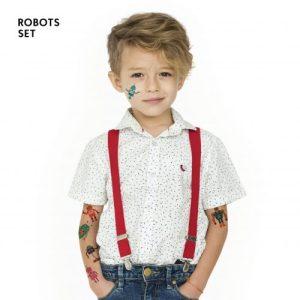 TATTon.me Robot Set - cool temporary tattoos - robots1 500x500