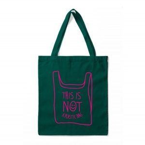 BAG THIS IS NOT A PLASTIC BAG green