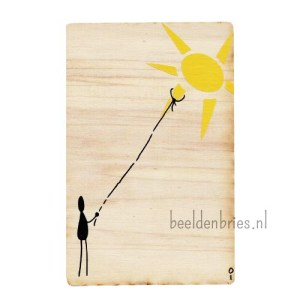 Wooden Take The Sun Card