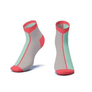 Contrast Ankle Socks in Mint - Kids - AS5 a 3D 500x500