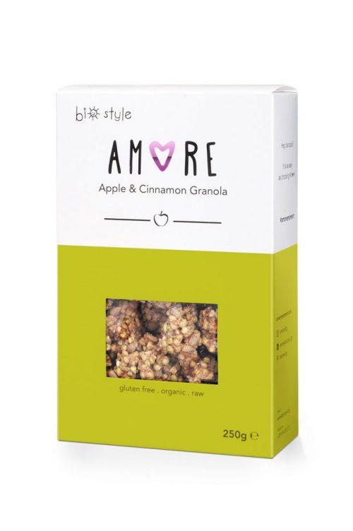 AMORE Organic Granola Apple and Cinnamon 250 g x 6