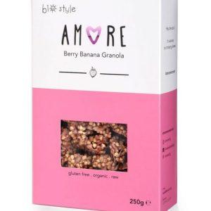 AMORE Organic Granola Berry Banana 250 g x 6 - Amore BerryBananaGranola 681x1024 1 500x500