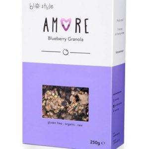 AMORE Organic Granola Blueberry 250 g x 6 - Amore BlueberryGranola 681x1024 1 500x500