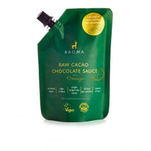 Raw Cacao Chocolate Sauce with Orange – 250ml