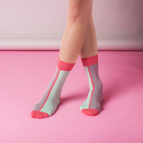 6x6 pairs of Colourful Contrast Ankle Socks - CONTRAST ANKLE SOCKS IN MINT SI 500x500