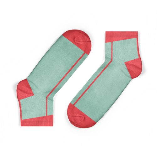 Coral Stripe Ankle Socks - Kids - CORAL STRIPE ANKLE SOCKS 500x500