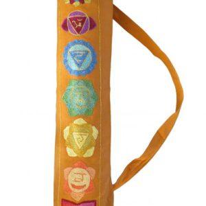 Chakra Design Yoga Mat Bag in Gorgeous Orange