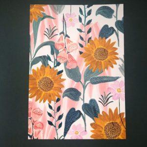 Sunflower Patterned A3 Print - EB94F077 77E0 4D1D 8075 5071404BAFAF 500x500