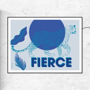 FIERCE II - Leopard Blue - FIERCEII blue 500x500