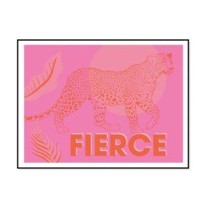 Fierce Leopard pink and orange