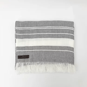 Grey Beach Linen Towel - Grey Beach Linen Towel