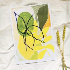 'lime' – a4 botanical print