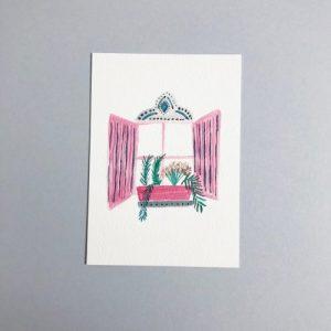 Decorative Shuttered Window A6 Print - IMG 7621 500x500