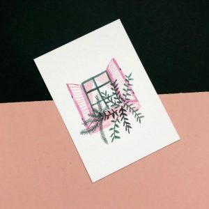 Pink Shuttered Window A6 Print - IMG 7623 500x500