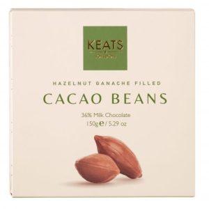 Keats Hazelnut Ganache Filled Cocoa Beans 150g - Keats Cocoa Beans With Hazelnut Ganche 150g 500x500
