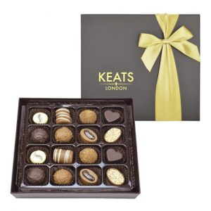 Keats Luxury Chocolate Selection 16 pcs Golden Box 200g