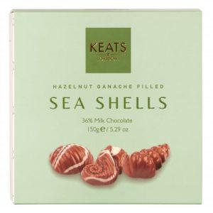 Keats Sea Shells with Hazelnut Ganache 150g - Keats Sea Shells With Hazelnut Ganche 150g 500x500
